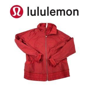 Lululemon Red Sweat Jacket. Sz 10